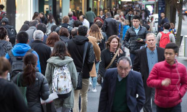 More than 10 million pedestrians were counted last year on Queen St, one of New Zealand's busiest streets. Photo / Nick Reed