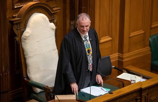 Speaker Trevor Mallard accused Simon Bridges of being deliberately disorderly. Photo / Mark Mitchell