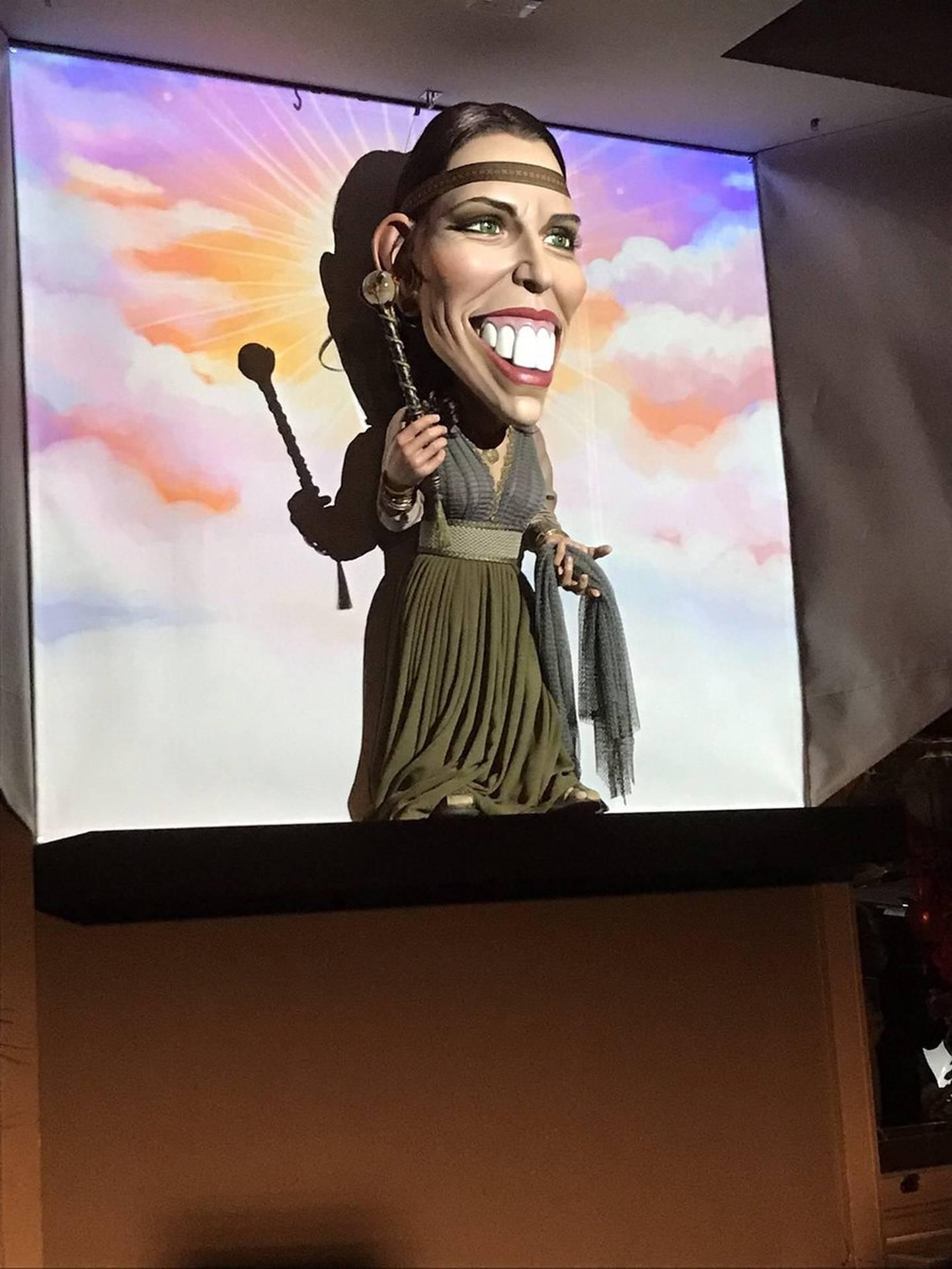 Prime Minister Jacinda Ardern's new puppet unveiled. Photo / Jason Walls
