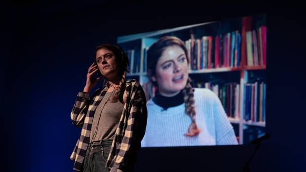 Performer and Yes Yes Yes co-creator Karin McCracken in an earlier performance of the play aimed at preventing sexual violence. Photo/Jinki Cambronero.