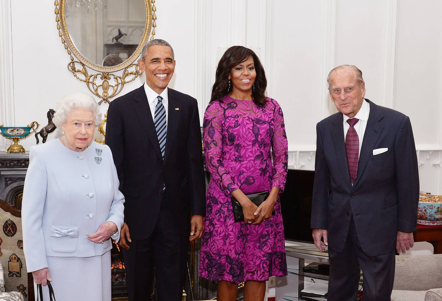 Queen Elizabeth II (L) and Prince Philip, Duke of Edinburgh (R) hosted Barack Obama and Michelle Obama for several days in 2011. Photo / Getty Images