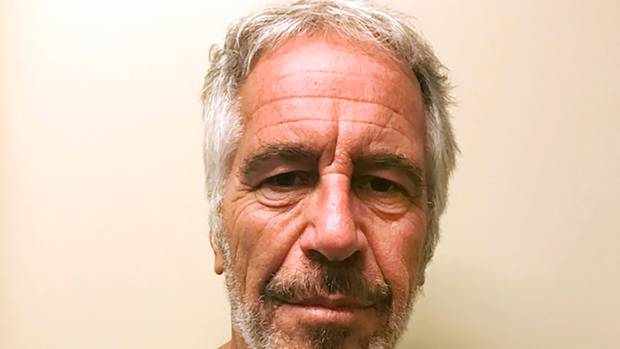Jeffrey Epstein died in his prison cell while awaiting trial on sex-trafficking charges. His death is being investigated and sources say the video footage outside his cell is unusable. Photo / AP