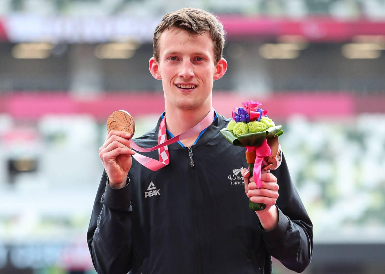 William Stedman wih his bronze medal. Photo / Photosport