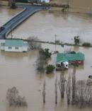 An aerial view of the flooding in Otago on July 22. Photo / Otago Regional Council
