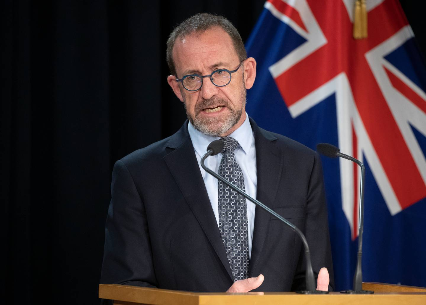 Health Minister Andrew Little questions whether ending the grace period will lead to any patient suffering, and if it does, it's on the industry, not him. Photo / Mark Mitchell